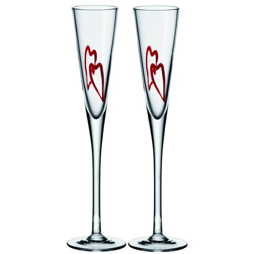 fl te champagne c ur leonardo set de 2 verres arts de. Black Bedroom Furniture Sets. Home Design Ideas