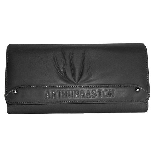 Portefeuille femme arthur aston cuir de vachette noir portefeuille pour femme sac main - Porte monnaie arthur et aston ...