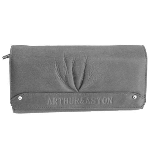 Portefeuille femme arthur aston cuir de vachette gris maroquinerie id es romantiques - Porte monnaie arthur et aston ...