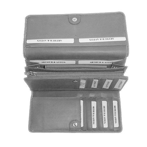 Portefeuille femme arthur aston cuir de vachette gris portefeuille pour femme sac main - Porte monnaie arthur et aston ...