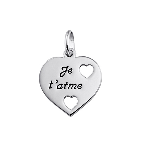 collier homme je taime