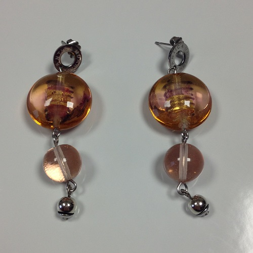Boucles d'oreilles rose JUST ANTICA MURRINA